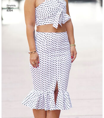Simplicity Pattern 8394 Misses' Top & Skirt-Size AA (10-12-14-16-18)