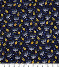 Hanukkah Cotton Fabric-Tossed Menorahs & Dreidels