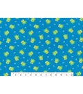 Snuggle Flannel Fabric -Frogs on Blue