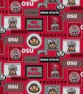Ohio State University Buckeyes Cotton Fabric 44\u0022-Packed Patches