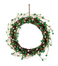 St. Patrick\u0027s Day Decor Wreath with Berries