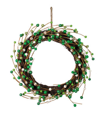 St. Patrick's Day Decor Wreath with Berries