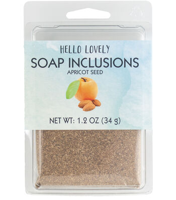 Hello Lovely 1.2 oz. Beauty Soap Inclusions Apricot Seed