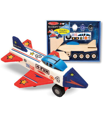Melissa & Doug Decorate-Your-Own Wooden Jet Plane Kit-