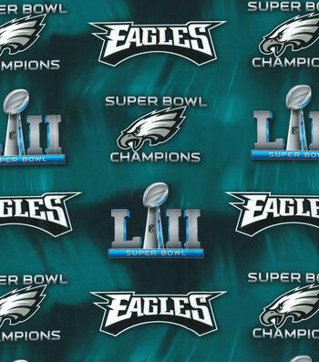 Philadelphia Eagles Super Bowl 52 Championship Cotton Fabric 44''