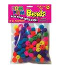 Pepperell 75pcs Pom Pom Beads