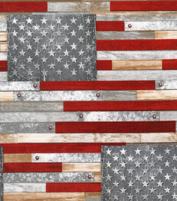Patriotic Cotton Fabric-Farmhouse