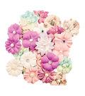 Prima Marketing Moon Child 24 pk Mulberry Paper Flowers-Absolute Aurora