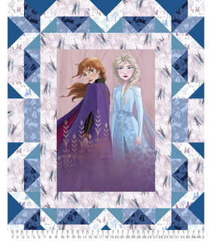 Disney Frozen 2 Fabric Panel-Faux Quilt