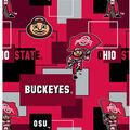 Ohio State University Buckeyes Cotton Fabric -New Block