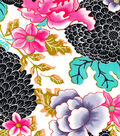 Stretch Twill Fabric-Asian Floral Multi