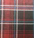 3 Yard Pre-Cut Snuggle Flannel Fabric -Burgundy Plaid