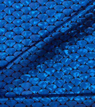 Cosplay by Yaya Han Metallic Scales Fabric -Metallic Cobalt