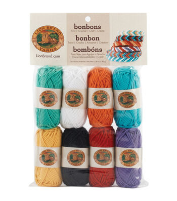 Lion Brand Bonbons Yarn 8/Pkg-Beach