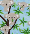 Snuggle Flannel Fabric -Koala Party