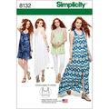 Simplicity Pattern 8132 Misses\u0027 Dress, Tunic & Bralette-Size D5 (4-12)