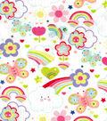 Snuggle Flannel Fabric -Happy Rainbows
