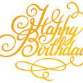 Ultimate Crafts Classic Sentiments Hotfoil Plate 3\u0022X2.5\u0022-Happy Birthday