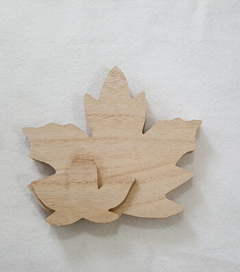 Simply Autumn Wood Décor-Leaf Maple