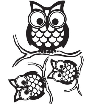 Wall Pops Give a Hoot Wall Art Decal Kit, 3 Piece Set