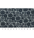 Quilter\u0027s Showcase Fabric -Navy Fusion Floral