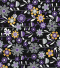 Quilter\u0027s Showcase Cotton Fabric -Bold Flowers on Black