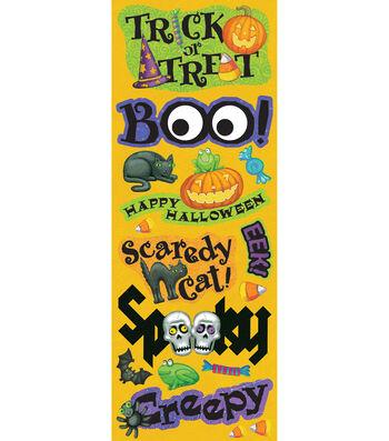 K&Company Tim Coffey Halloween Adhesive Chipboard