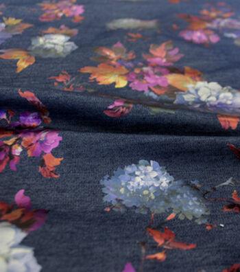 "Sportswear Denim Fabric 57""-Multi-Colored Floral"