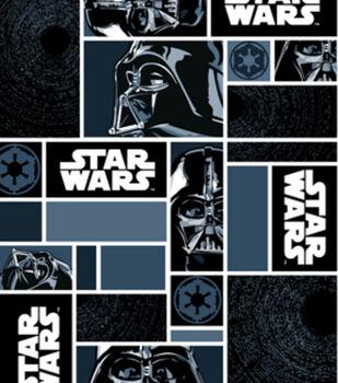 Star Wars Fleece Fabric -Darth Vaders in Blocks