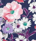 Keepsake Calico Cotton Fabric -Watercolor Pink Purple Floral