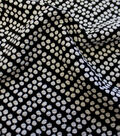 Knit Fabric-Dot Jacquard Knit Black White