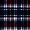 Snuggle Flannel Fabric-Wine & Blue Distressed Plaid