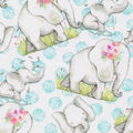 Super Snuggle Flannel Fabric-Happy Elephants