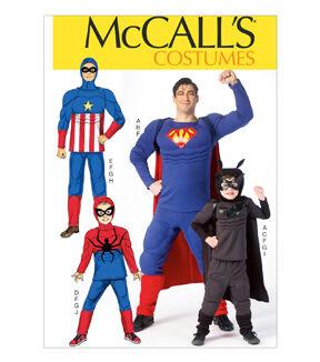 McCallu0027s Pattern M7002-Men/Boy Super Hero Costumes  sc 1 st  Joann & Costume Patterns for Women Men u0026 Children | JOANN
