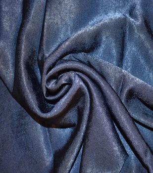 Silky Sanded Satin Fabric -Navy