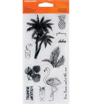 Fiskars Clear Stamps-Tropical Getaway