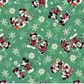 Disney Mickey & Minnie Flannel Fabric-Snowflake Toss