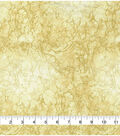Premium Wide Cotton Fabric-Gold Water Drops