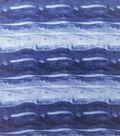 Anti-Pill Plush Fleece Fabric-Navy Marble Tie Dye