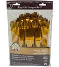 Royal Langnickel 25pc Variety Brush Set-Brown Taklon