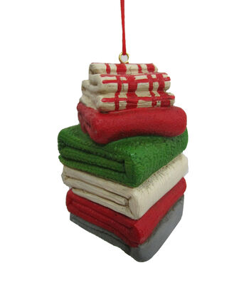 Maker's Holiday Christmas Stacked Fabric Ornament