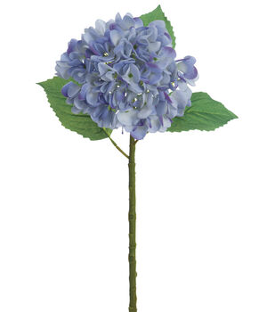Bloom Room 19'' Real Touch Hydrangea Stem-Delphinium Blue