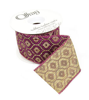 "Lux Ribbon 2.5""-Abby Purple"