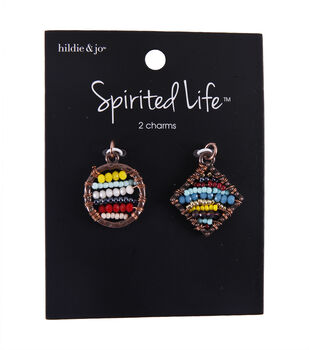 hildie & jo Spirited Life Beaded Circle & Square Charms