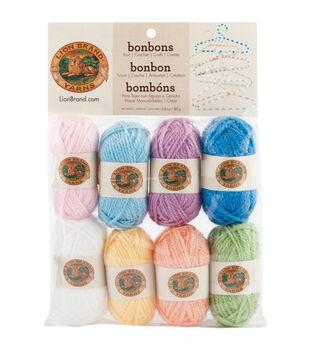 Lion Brand Bonbons Yarn 8/Pkg-Pastels