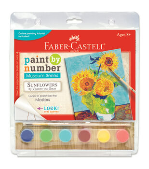 """Museum Series Paint By Number Kit 6""""X8""""-Sunflowers"""