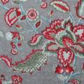 Anti-Pill Plush Fleece Fabric-Winter Floral Mint Gray