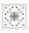 Janlynn Blue And Yellow Geometric Quilt Blocks Stamped Cross Stitch Kit