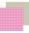 Doodlebug Hello 25 pk 12\u0027\u0027x12\u0027\u0027 Double-Sided Cardstock-Pink Tickled