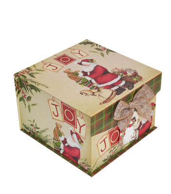 Maker's Holiday Medium Mini Fliptop Storage Box-Christmas Stocking